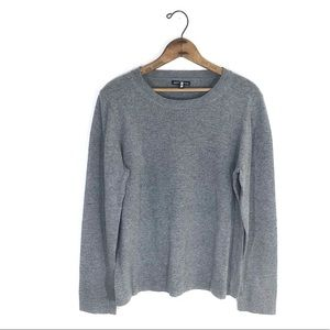 J.crew Mercantile Heather Grey Crew Neck Knit